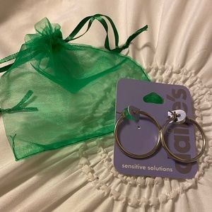 NWT Claire's Sensitive Solutions Silver Mini Hoops